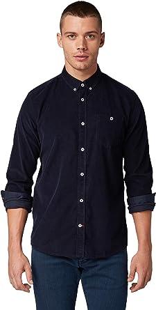 Tom Tailor - Camisa para Hombre Azul Marino Real. L: Amazon.es: Ropa y accesorios