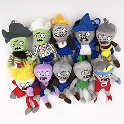 TavasHome Plants vs Zombies Plush Toys, 10 Pack, Mini 6'' PVZ Baby Hanging Plush Dolls Toys Figures Playset: Toys & Games