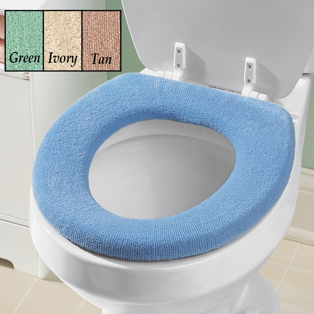 Amazon.com: Soft n Comfy Cloth Toilet Seat Cover, Washable, Blue ...