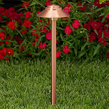 Vista Pro Path And Spread Landscape Lighting PR 2128 Natural Copper