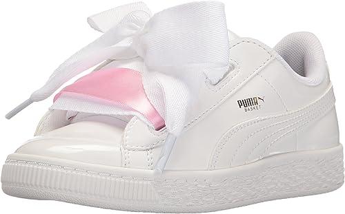 PUMA Baby-Girls Basket Heart Patent