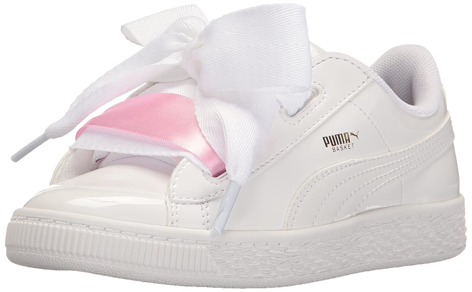 quality design 92653 06dd9 PUMA Kids' Basket Heart Patent PS Sneaker