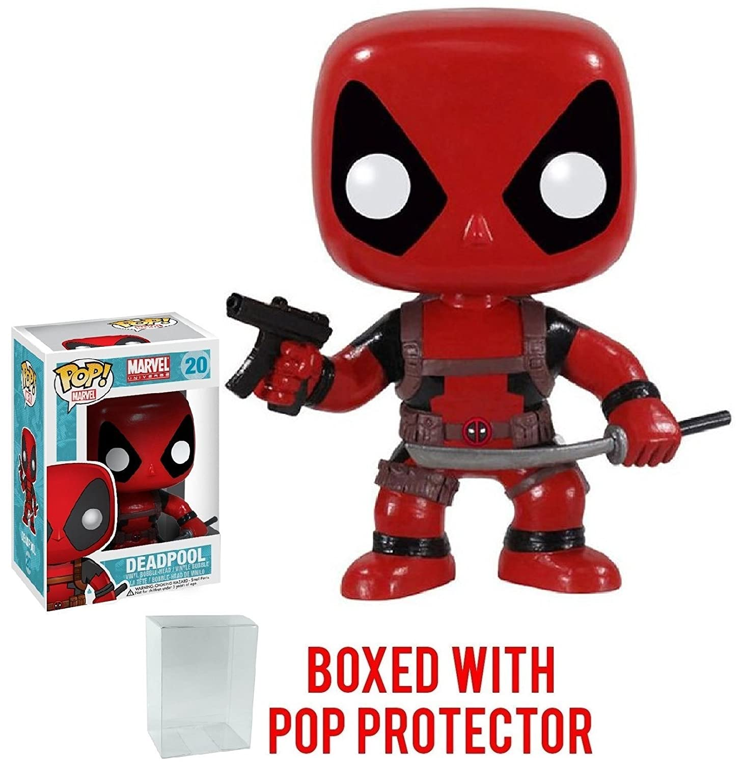 MARVEL UNIVERSE POP VINYL DEADPOOL FIGURE NEW IN STOCK FUNKO MERC WITH MOUTH HOT