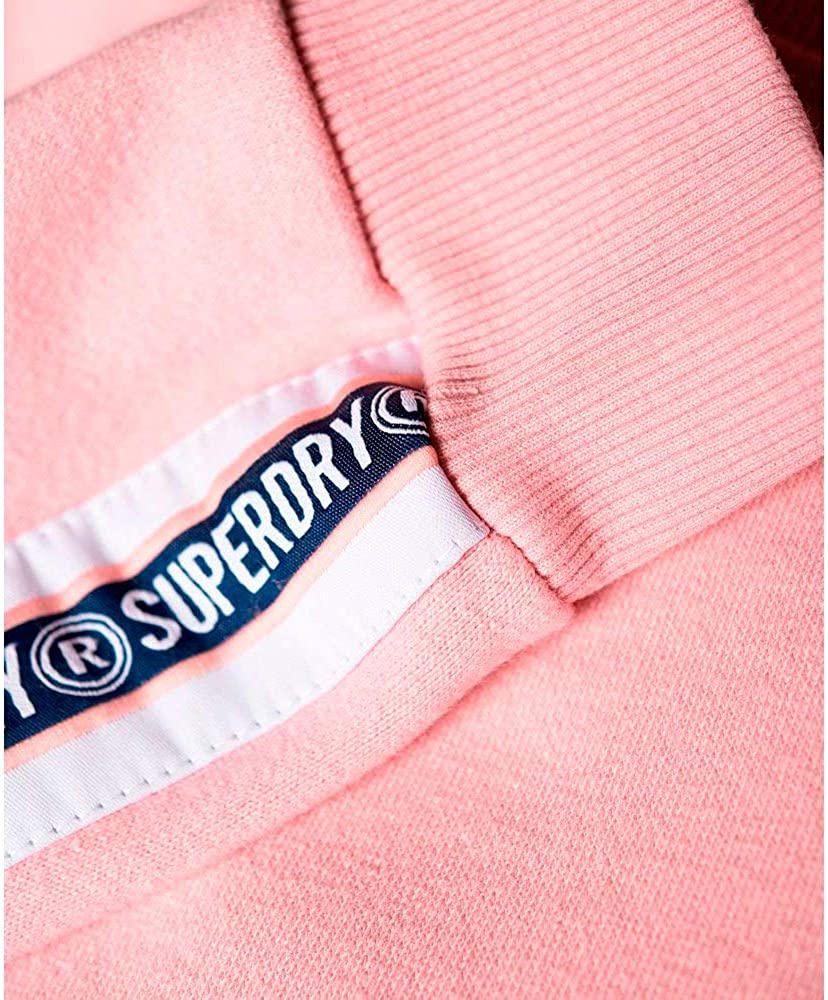Superdry Damen Alicia Sweatshirt mit Rundhalsausschnitt Pink Verblasst
