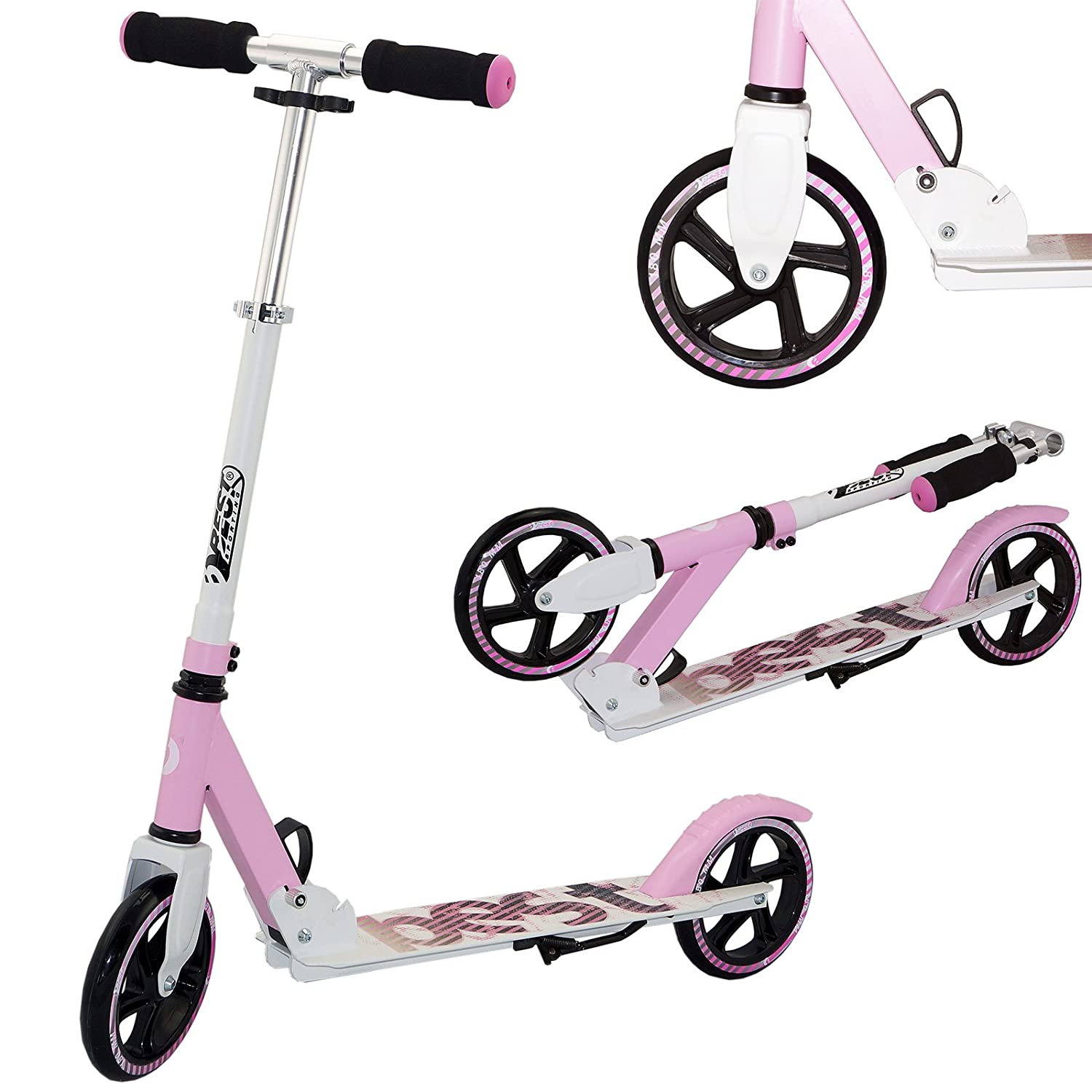 White Pink Best Sport 30406 Scooter with ABEC7, Red Black