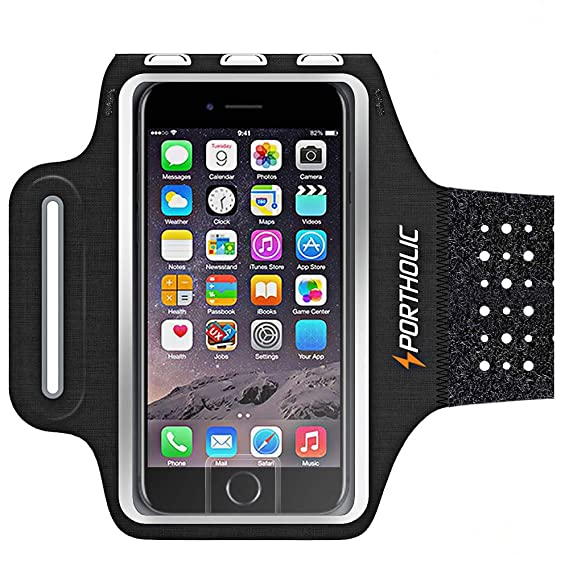 newest 8052f 5eac2 Sweat Resistant Armband Fits iPhone Xs Max XR X 8 7 6 6s Plus PORTHOLIC  Phone Running Holder Sports Workout Case for Samsung GalaxyS10 S9+ S8  S7Edge ...