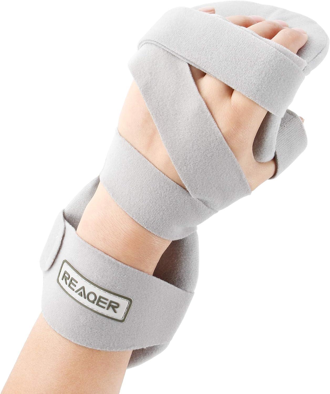 REAQER Férula Muñeca Órtesis Muñequeras con Tablilla Extraíble para Muñeca y Pulgar Estabilizador Ideal para dolor de síndrome de túnel carpiano, fracturas, esguinces y distensiones (izquierda)