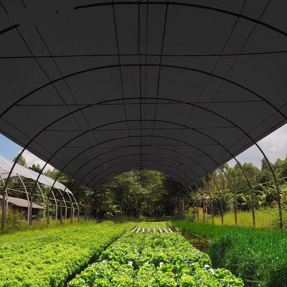 OriginA Sun Screen Shade Panel 12x12ft Black 90% Sunblock Protect your Plant for Greenhouse