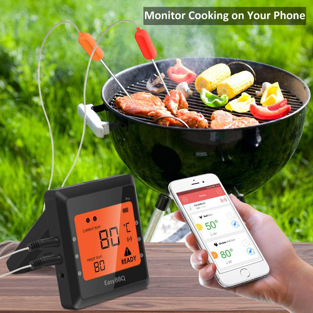 6b1d0bb327d Meat Thermometer, Silipower Bluetooth Grilling Cooking Food ...