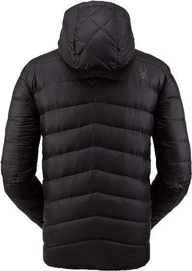 : Spyder Men's Timeless Hoodie Down Jacket