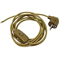 Cable de conexión alimentación con clavija enchufe Schuko