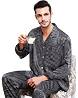 Mens Silk Satin Pajamas Set Sleepwear Loungewear S~3XL Plus