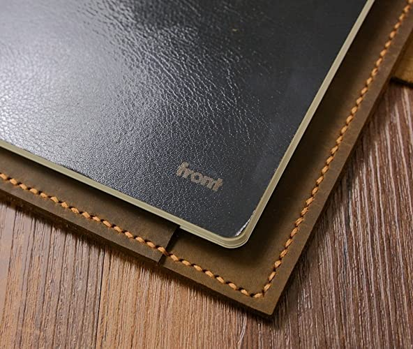 Personalized distressed leather cover organizer portfolio for A5 Moleskine Agenda Field notes notebook/leather ipad mini cover -NA5005SP
