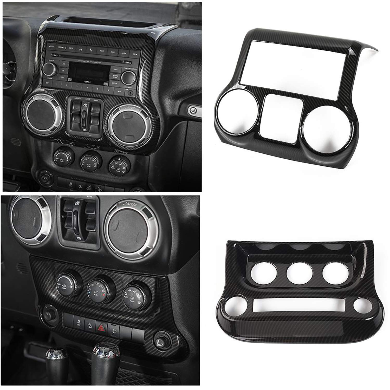 4X Chrome Interior Air Conditioning AC Vent Trim Cover for 2007-2018 Jeep Wrangler JK JKU
