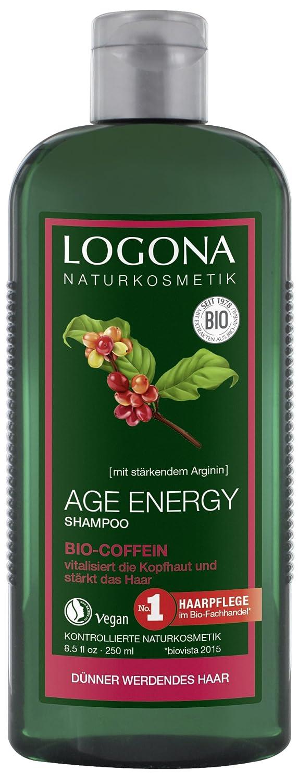 logona Natural cosmético Age Energy Champú Bio de cafeína, fortalece & vitaliza, para pelo, favorece en regelm. Aplicación El Pelo de crecimiento, ...