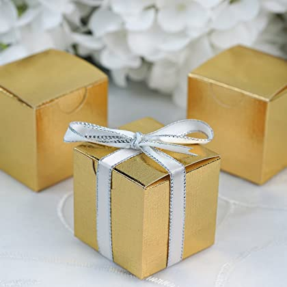 Amazon cambodia shopping on amazon ship to cambodia ship overseas balsacircle 100 pcs 2 inch gold wedding favor boxes for wedding party birthday candy gifts junglespirit Choice Image