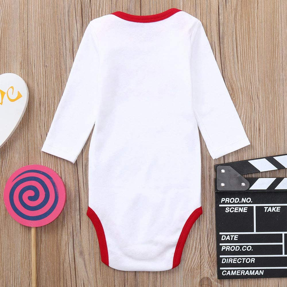 FORESTIME Infant Baby Boys Cotton Winter Warm Romper Letter Jumpsuit Stripe Long Sleeves One Pieces Outfit