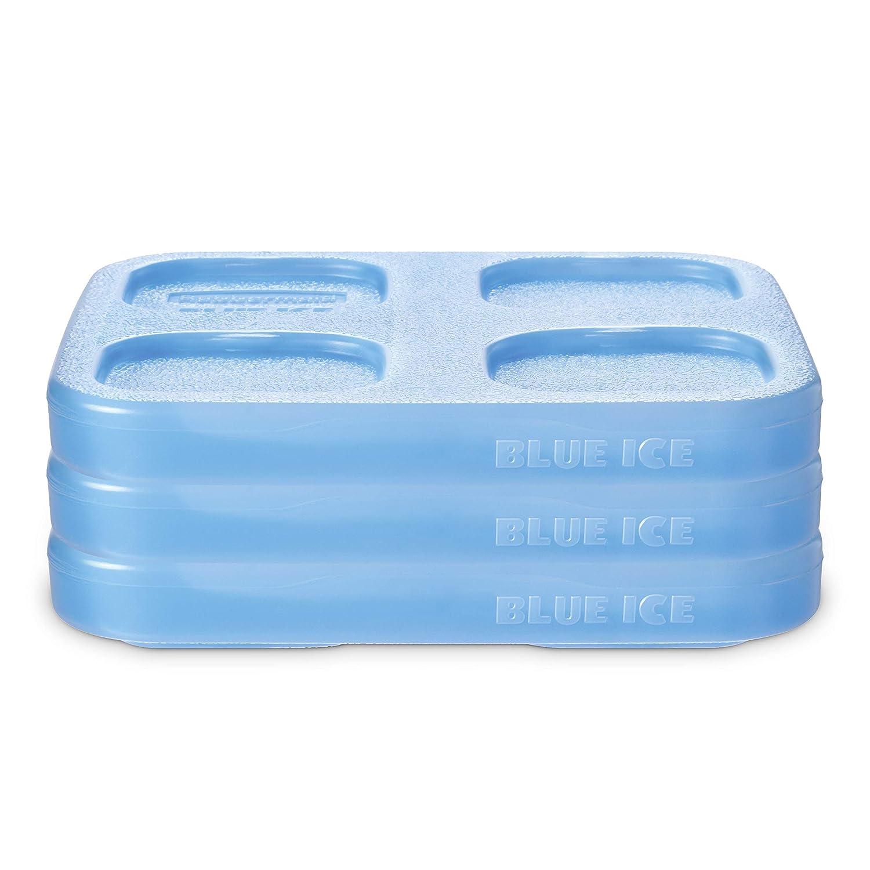 Rubbermaid 2108394 LunchBlox Blue Freezer, Medium Ice Pack Set, 3 Pack