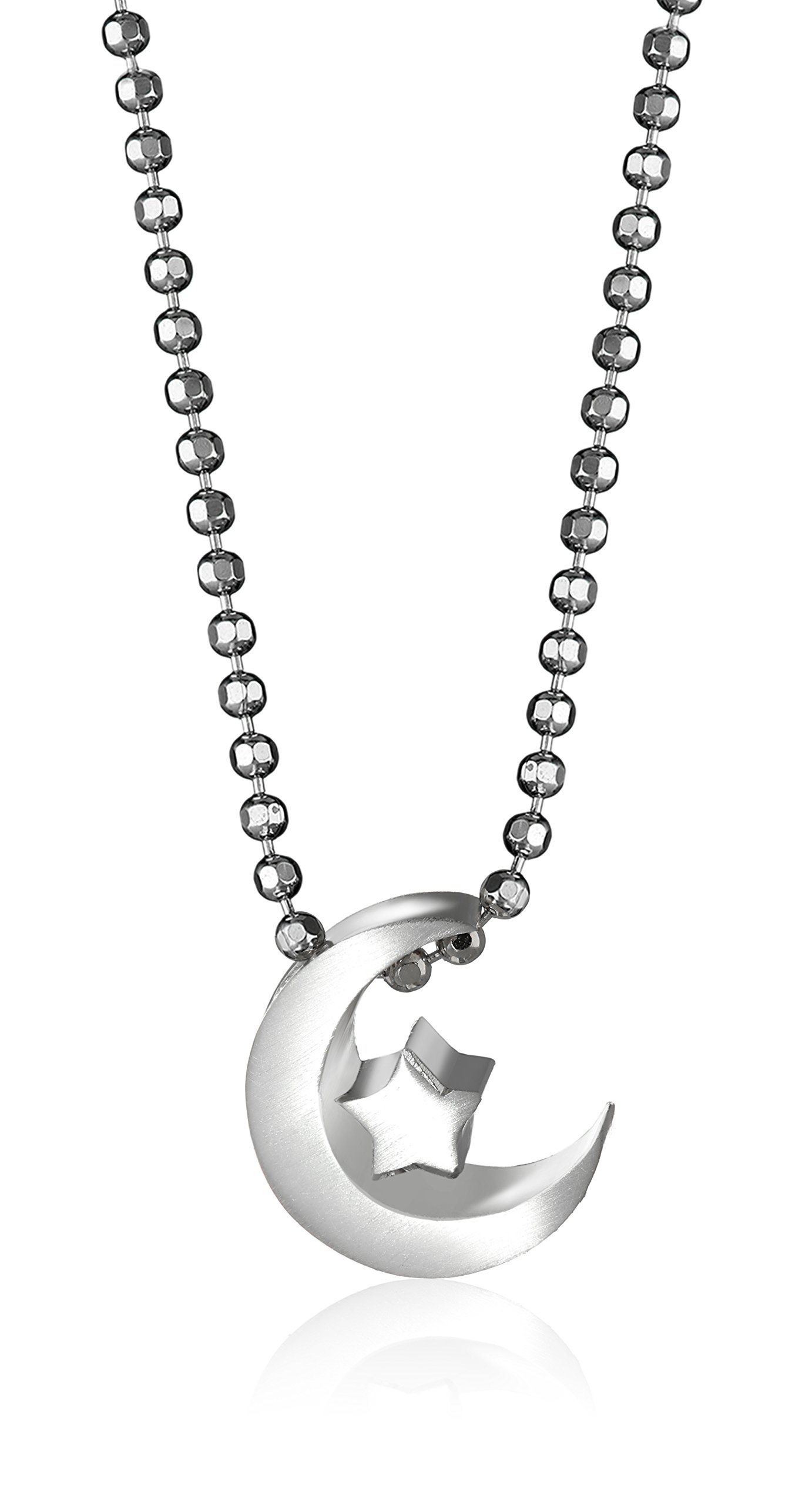 Alex Woo ''Little Faith'' Sterling Silver Crescent Moon Pendant Necklace, 16'' by Alex Woo