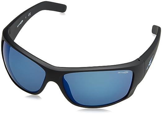 e06d9bee30 Image Unavailable. Image not available for. Color  Arnette Men s Heist 2.0  Non-Polarized Iridium Rectangular Sunglasses MATTE BLACK ...