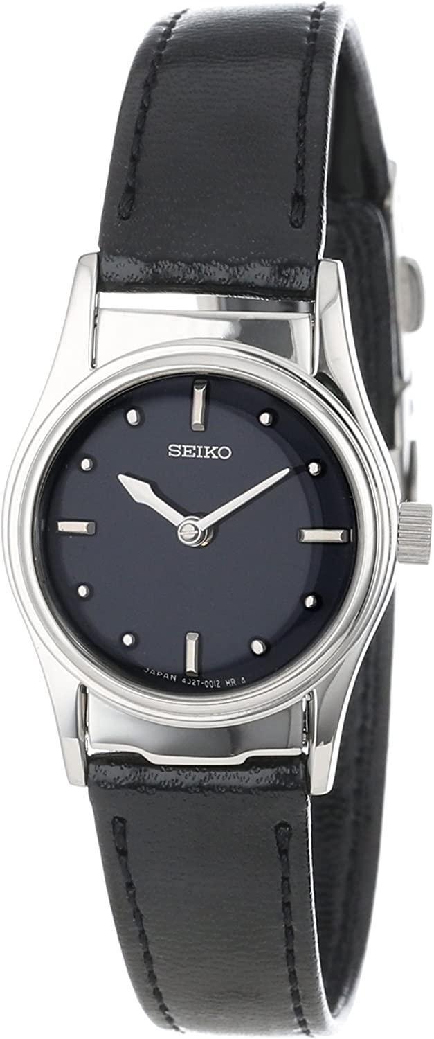 Seiko Women's SWL001 Braille Black Leather Strap Watch: Seiko: Watches -  Amazon.com