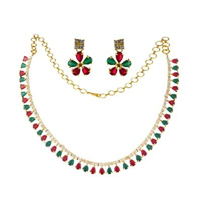 6558a7f80d02c Buy Kalyani Covering AD Necklace Set for Womens and Girls Online at ...