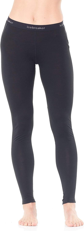 Icebreaker Merino Women/'s 150 Zone Leggings Black//Mineral X-Small