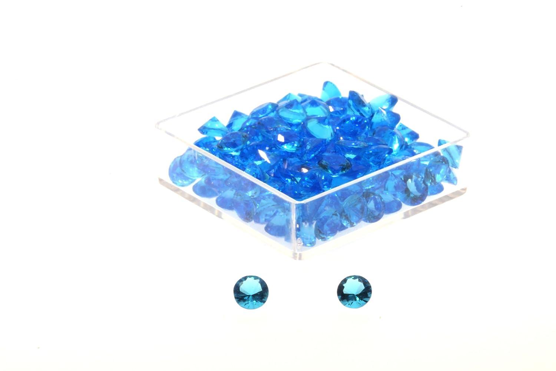 Birth Stone Jewels 4mm Blue Topaz Round Brilliant Cut Cubic Zirconia Gem Stones Pack Of 4 4mmRBTCZ
