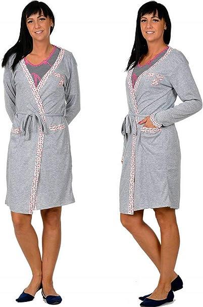 Evila - Vestido de Maternidad para Embarazadas + camisón para Embarazadas, para Mujeres Lactantes, algodón, Mezcla Gris Set 3 S/M: Amazon.es: Ropa y accesorios
