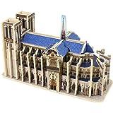 Robotime 3D Puzzle Wooden Craft Kit Famous World Building Model Notre Dame de Paris Educational Toy