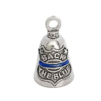 Back The Blue Guardian Bell Motorcycle - Harley Accessory HD Gremlin NEW Riding Bell Key Ring: Automotive