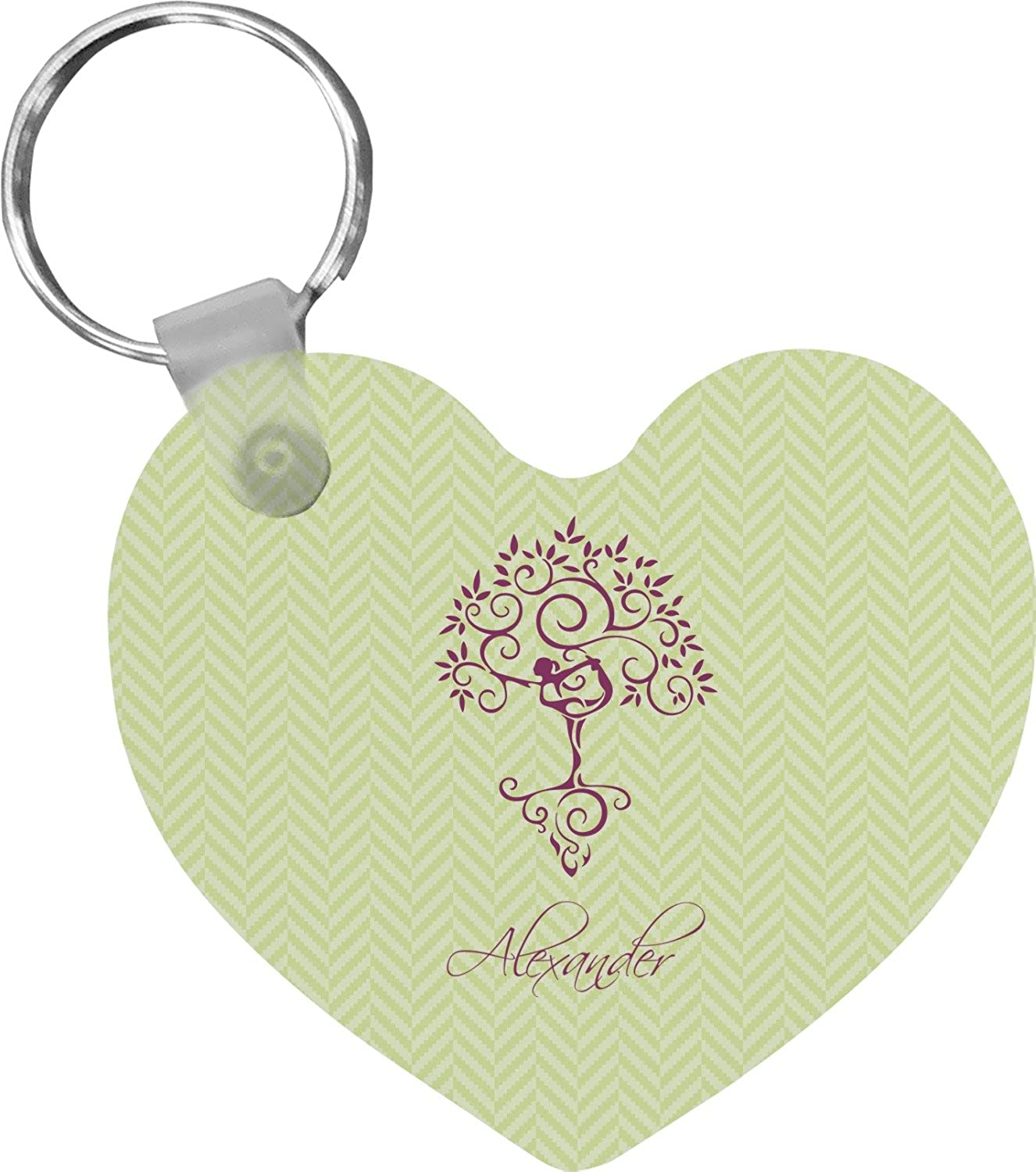 Yoga Tree Heart Keychain (Personalized)