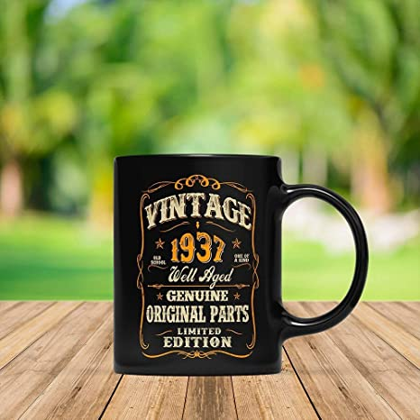 My 81st Birthday Shirt Turning 81 Years Old Funny 1937 Gift Mug For