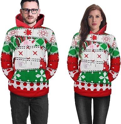 Ladies Ugly Christmas Sweater Women Girls Cute Shining Reindeer Pullover Sweatshirt