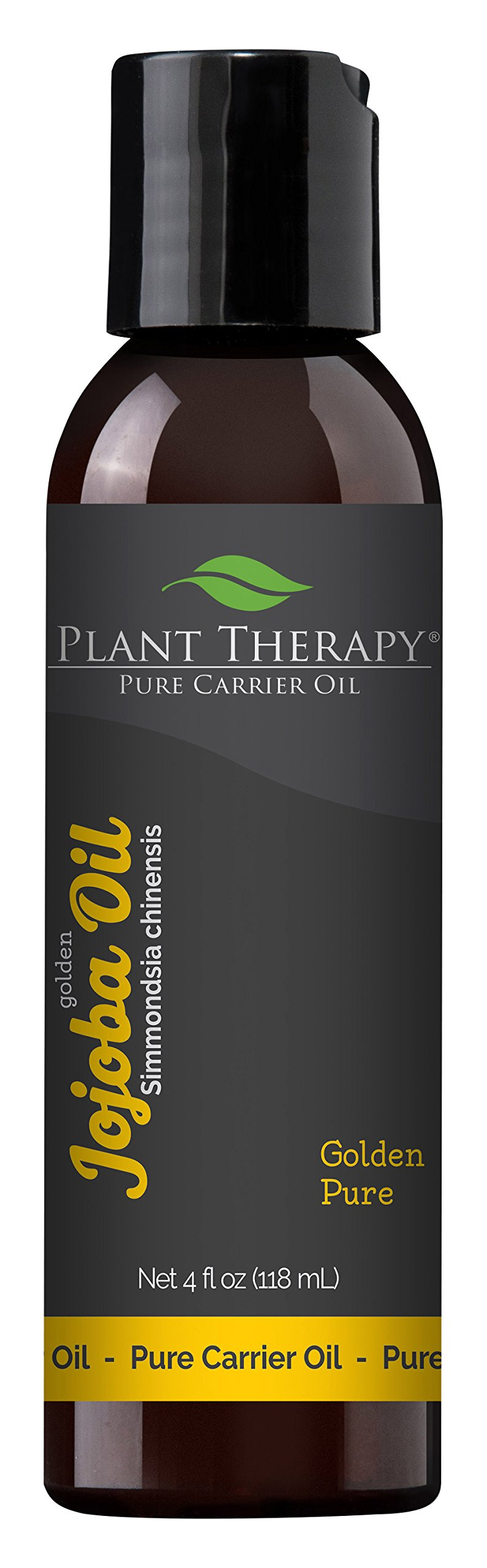 Plant Therapy Jojoba Oil. 100% Pure, Cold-Pressed, Natural and GMO-free Moisturizer and Carrier Oil for Essential Oils. 4 oz.