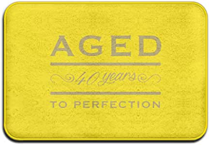 Anuoge Aged To 40 Perfection Non-Skid Home Mat 60x40cm