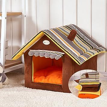 Portable Indoor Pet House cálido Saco de dormir Nest perro gato Cave Pet cama para Medianas y pequeñas mascotas: Amazon.es: Productos para mascotas
