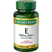 Vitamin E by Nature's Bounty, Supports Immune Health & Antioxidant Health, 1000IU, 60 Softgels