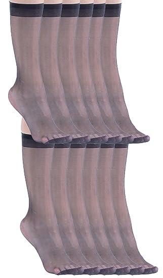 6ce204dd433 12 Pair of Felicity Sheer Knee High Socks Trouser Socks