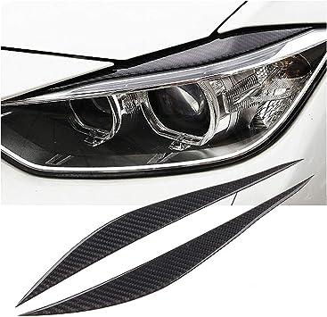Real Carbon Fiber Headlight Eyebrows Eye Lid Trim For BMW 3 Series F30 2013-2017