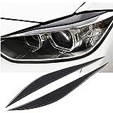 x xotic tech Carbon Fiber Headlight Eyebrows Eye Lid Sticker for BMW 3 Series F30 2013-2017