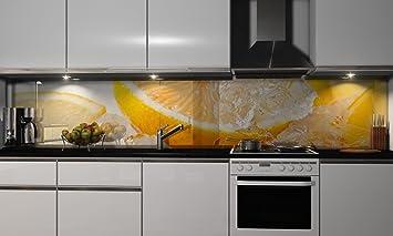 Kuchenruckwand Folie Zitrone In Eis Klebefolie Spritzschutz Kuche