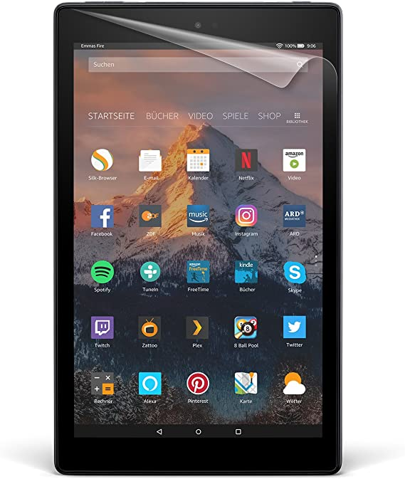 Nupro Displayschutzfolien 2er Pack Für Fire Hd 10 10 Zoll Tablet 7 Und 9 Generation 2017 Und 2019 Transparent Kindle Shop