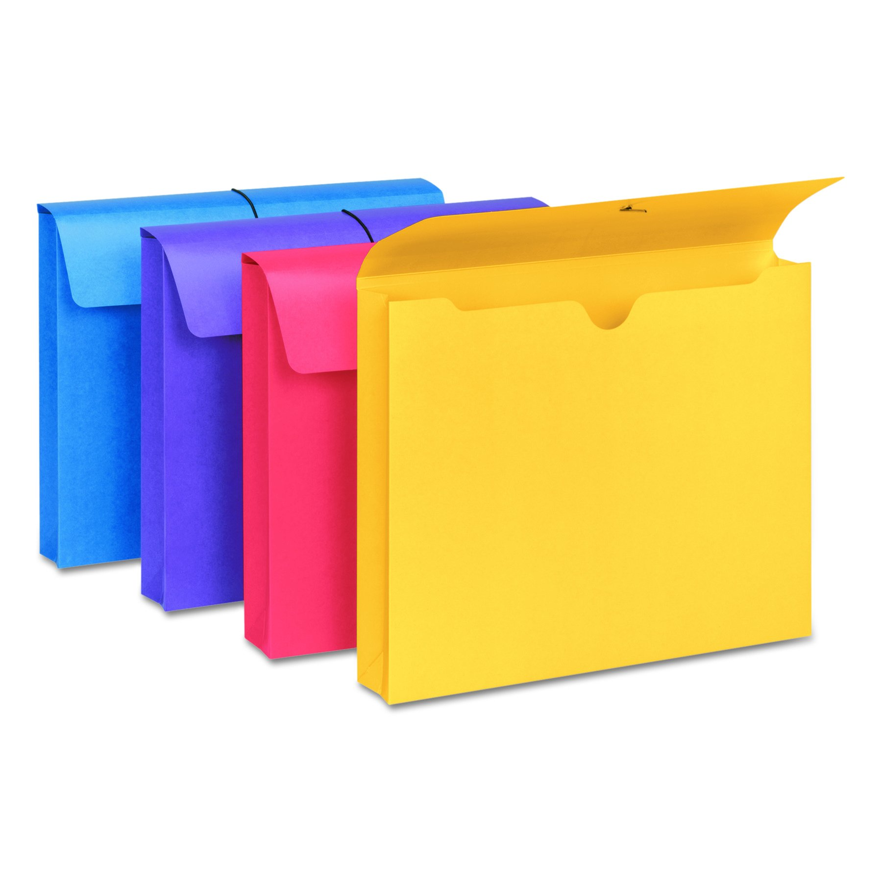 Smead 77291 2'' Exp Antimicrobial File Wallet, Letter, Four Colors (Pack of 4) by Smead (Image #2)