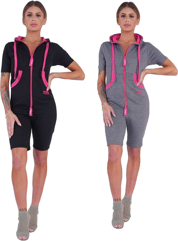 Finchgirl Damen Jumpsuit Sommer einteilig Jogging Trainingsanzug Overall