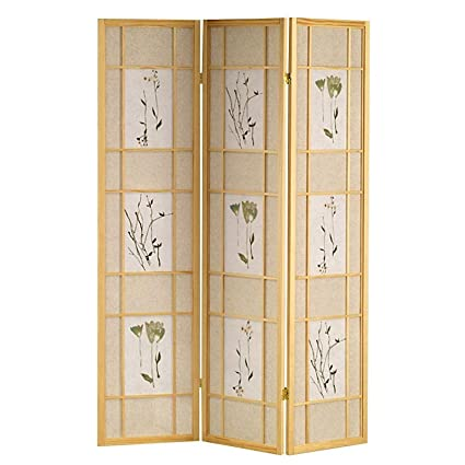Amazoncom Legacy Decor 3 Panel Screen Room Divider Natural Wood
