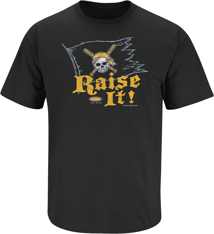 S-5X Pittsburgh Baseball Fans Black T-Shirt Raise It