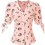 Belle Poque Camisas Ligeras Lindas de Manga Corta de Verano de Las niñas de los años 50 BPS02126