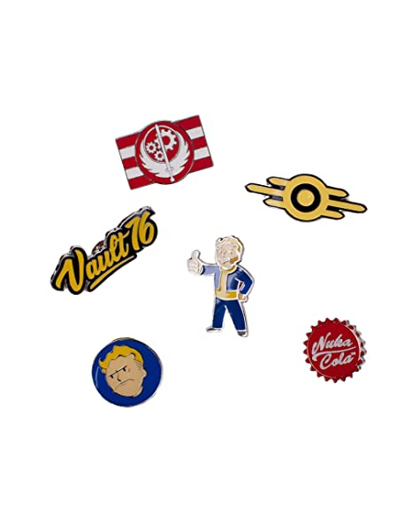 Fallout Fallout 76 Set of 6 Metal Pin Badges Collectors (Pi601678Fal) Llavero, 16 cm, (Multicolour)