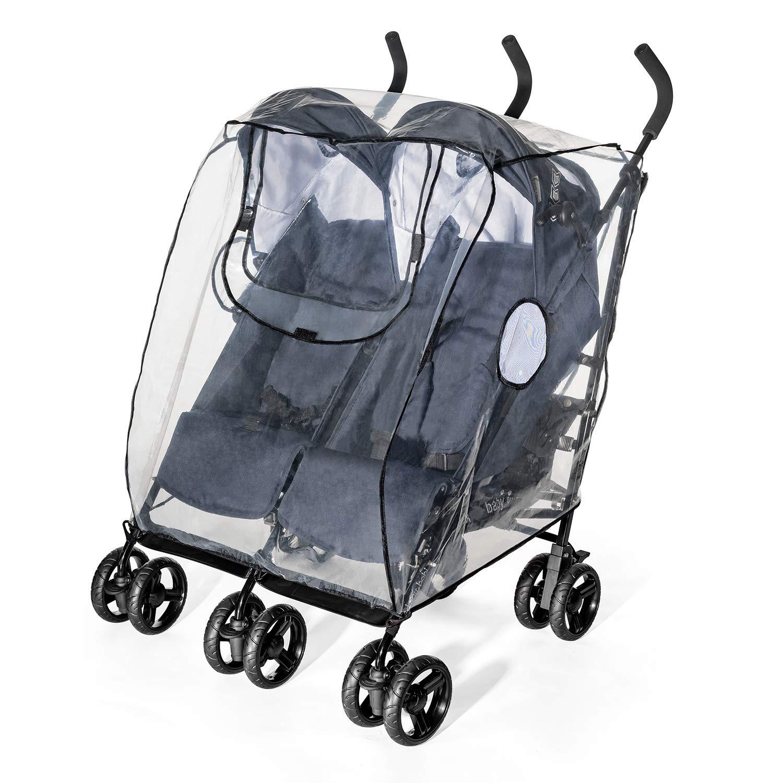 Euret 71584 Protector para la lluvia para silla de paseo doble